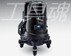 画像1: アックスブレーン受光器対応 高輝度グリーンレーザー墨出し器