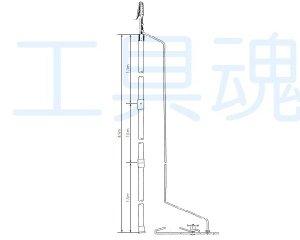 画像1: 長谷川電機鉄道用アースフック【受注生産品】
