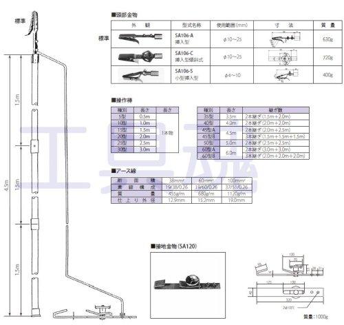 他の写真1: 長谷川電機鉄道用アースフック【受注生産品】
